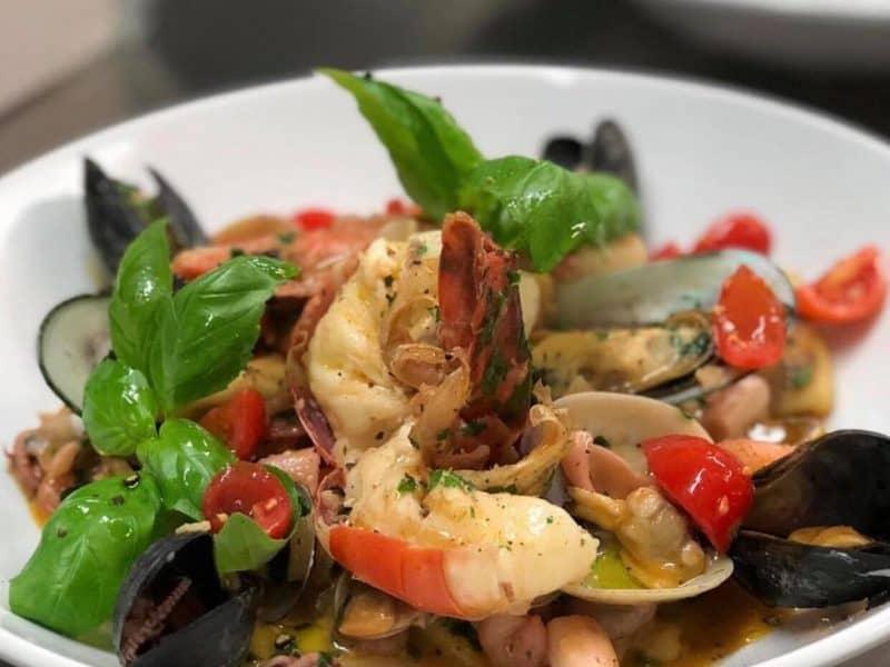 """Fischsuppe """"alla mediterranea"""""""